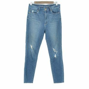 Articles of Society distressed skinny jeans 30